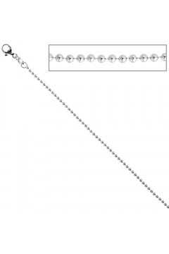 Kugelkette 925 Silber 1,4 mm Halskette Kette Silberkette Karabiner