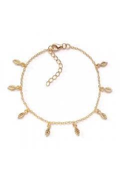 Armband mit Blättern by Anahita Rehbein | 585 Echtgold
