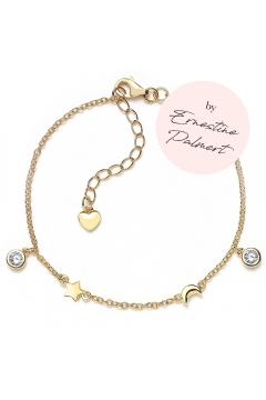 Armband Stern, Mond & Herz by Ernestine Palmert - 925 Sterlingsilber