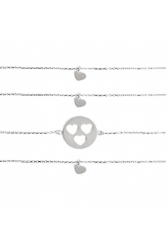 "Armband-Set ""Carry Three Hearts""- gravierbar"