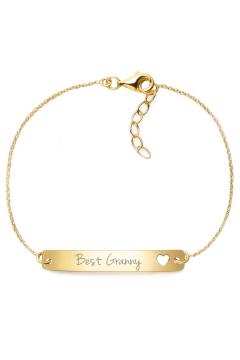 "Armband mit Gravur ""Best Granny"" - 925 Sterlingsilber | gravierbar"