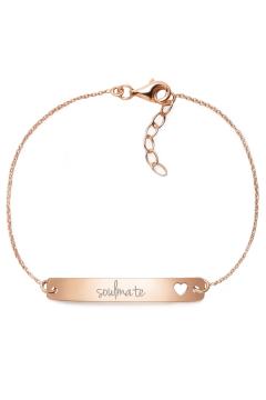 "Armband mit Gravur ""soulmate"" - 925 Sterlingsilber | Rückseite individuell gravierbar"