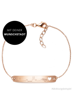 """Armband mit Silhouette """"Wunschstadt"""" 