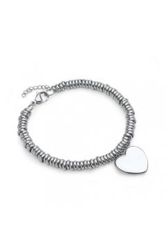 Herz-Armband aus Edelstahl