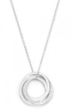 Gravierbare russische Kette mit drei Ringen - 925 Sterlingsilber