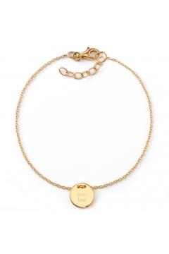 Gravur-Armband mit Plättchen | 585 Echtgold