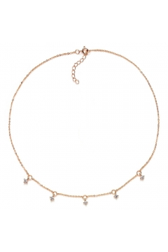 Choker - Halskette Attraction mit Zirkonia - 925 Sterlingsilber