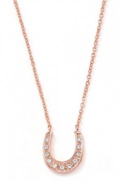 Glücksbringer-Halskette Hufeisen mit Zirkonia - 925 Sterlingsilber