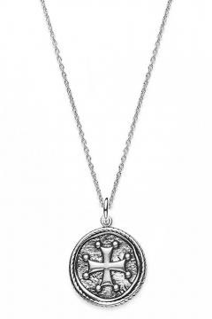 Münzkette Kreuz - 925 Sterlingsilber