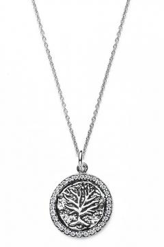 Münzkette Lebensbaum - 925 Sterlingsilber