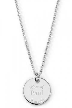 Gravierbare Halskette Mutterliebe mit rundem Anhänger