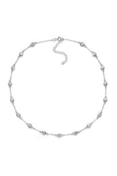 Halskette mit Zirkonia - 925 Sterlingsilber