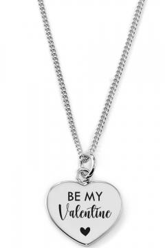 Gravierbare Herzkette Be My Valentine