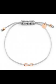 """Infinity-Stoffarmband """"Glorious Infinity""""   gravierbar - 925 Sterlingsilber"""