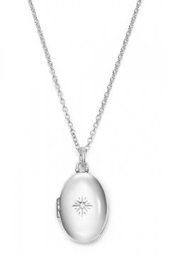 Aufklappbares Medaillon mit Zirkonia - 925 Sterlingsilber