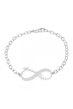 "Namensarmband ""Infinity"" - 925 Sterlingsilber"
