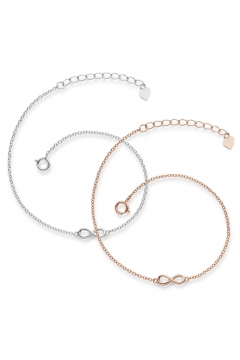 Muttertagsgeschenk-Set - Infinity-Armbänder 925 Sterlingsilber