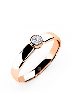 "Verlobungsring ""Simple Diamond"" Rosé"