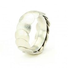 Ring ARMADILLO - Silver, 8mm