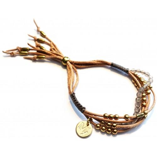 Gipsy Armband – Perlen & weiches Leder