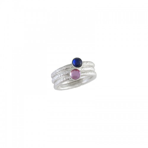 Ringset Sterling Silber Cabochon