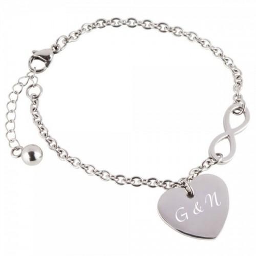 Herz-Armband mit Unendlichkeitssymbol