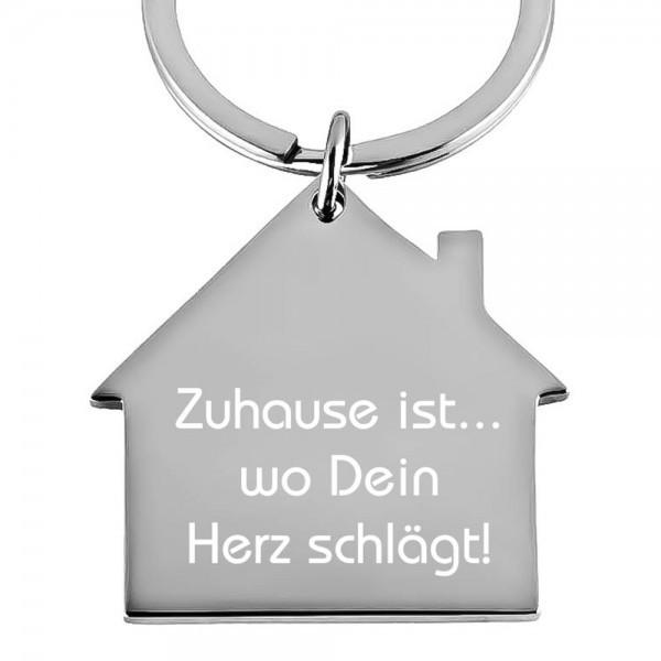 Edelstahl-Schlüsselanhänger mit Gravur