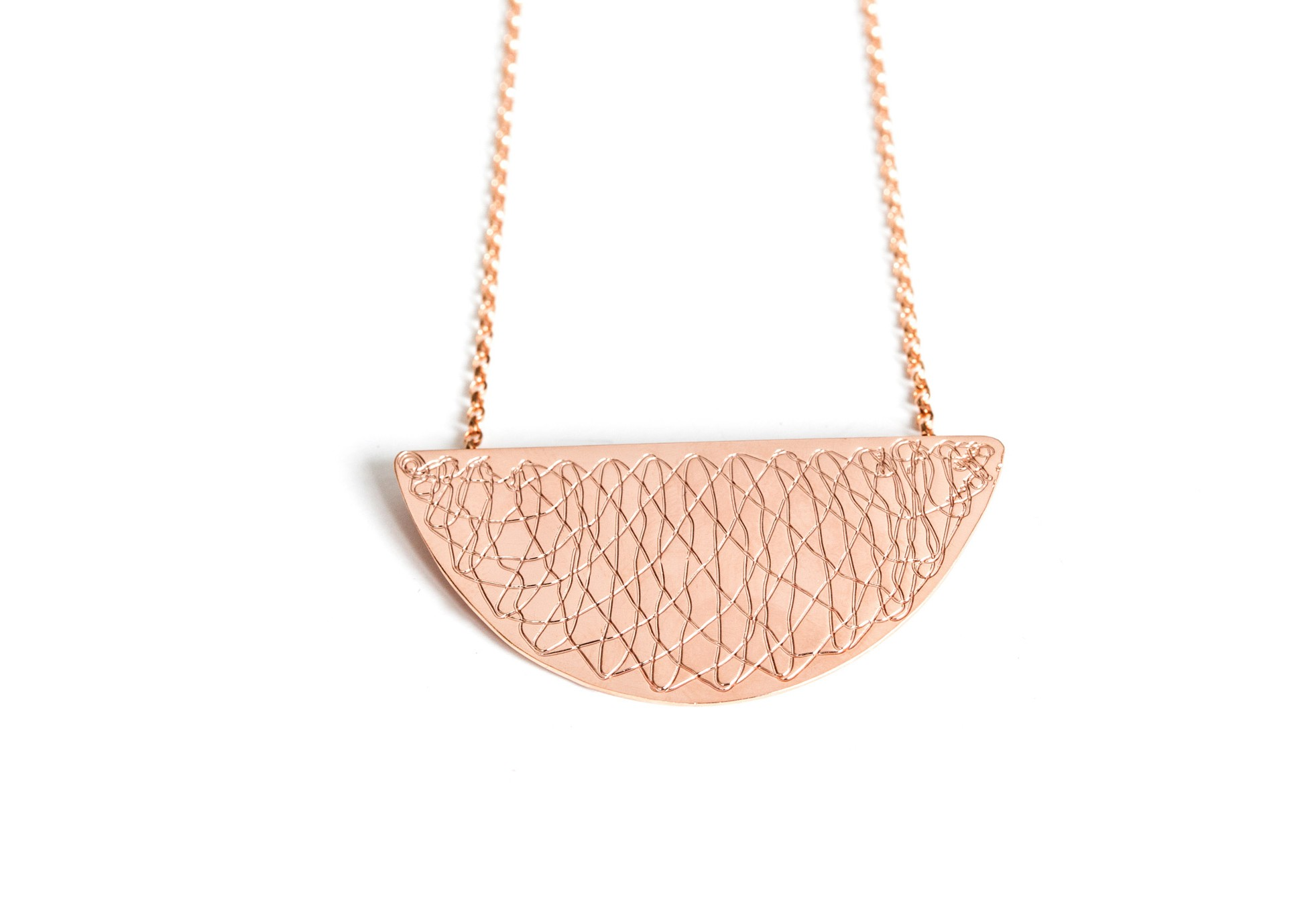 Inlace Jewelry Moon Kette Rosé