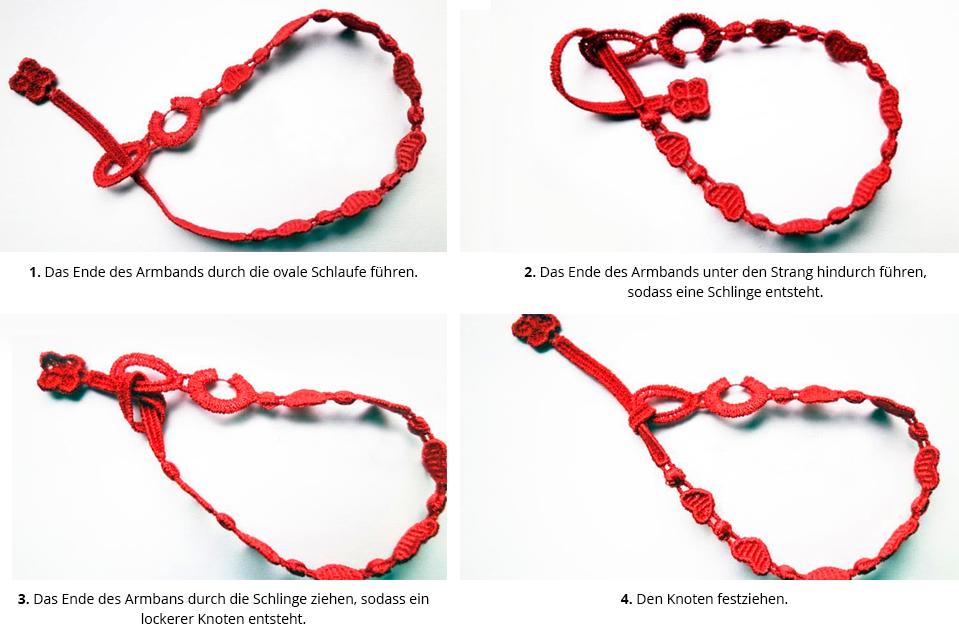 Anleitung Cruciani Armband binden