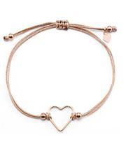 Stoff-Armband mit Herz