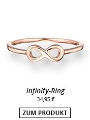 Infinity Ring rosévergoldet hoher Kuper Anteil