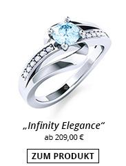 Verlobungsring mit Steinbesatz