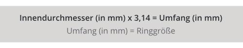 formel Ringgröße ermitteln