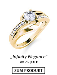 Goldener Ring mit Diamant