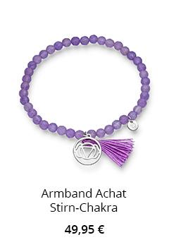 Achat Armband Stirn Chakra