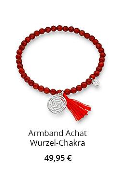 Roter Achat Armband Wurzel Chakra