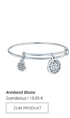 Armband Silber mit Blume