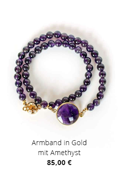 Armband in Gold mit Amethyst
