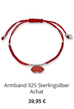 Achat Armband mit Achat Anhänger rot