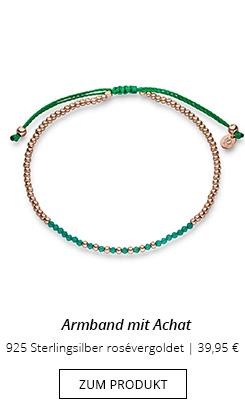 Achat Grün am Armband