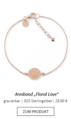 Armband mit Anhänger Blume rosevergoldet