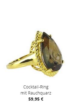 Cocktail-Ring mit Rauchquarz