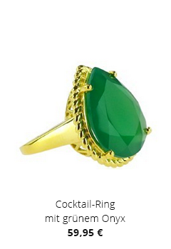 Cocktail-Ring mit Onyx