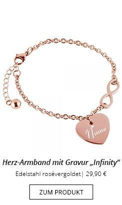 Armband aus Edelstahl rosévergoldet