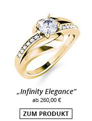 Funkelnder Ring Gelbgold