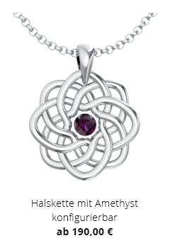 Halskette mit Amethyst