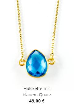 Halskette mit blauem Quarz