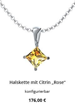 Halskette mit Citrin