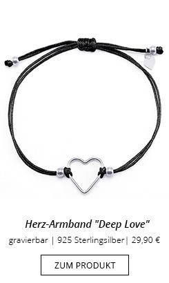 Herz-Armband mit gravierbarem Anhänger