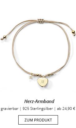 Herz-Armband mit Gravur